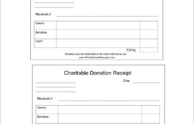 charitable donation receipt charitable donation receipt doc download