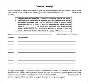 charitable donation receipt template non profit donation receipt template