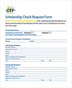 check request form scholarship check request form