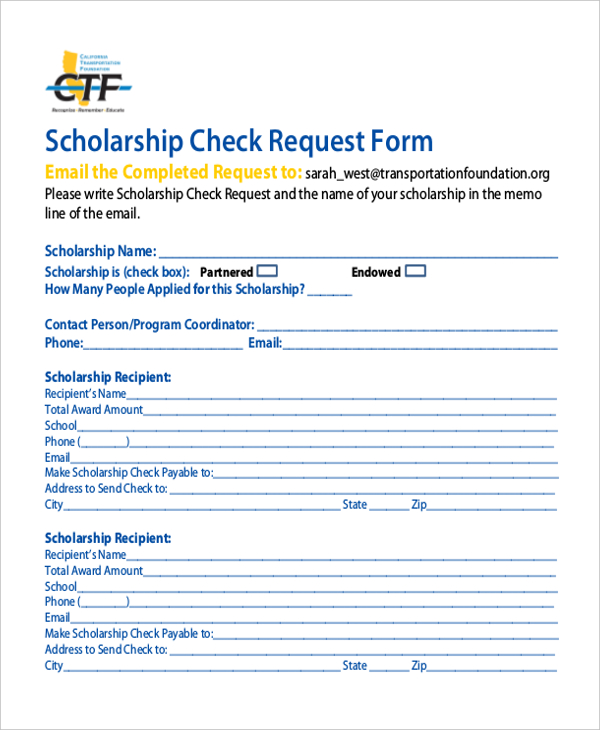 check request form