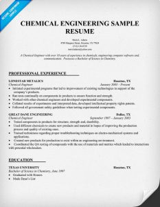 chemical engineer resume chemical engineer resume example