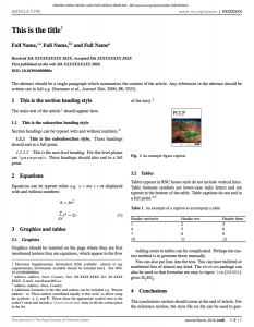 chemistry lab report template academic journal