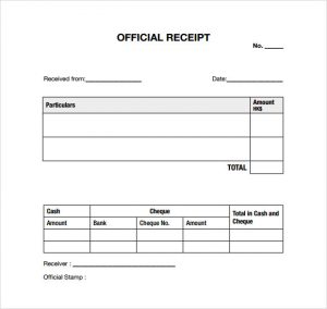 child care receipt general receipt template official