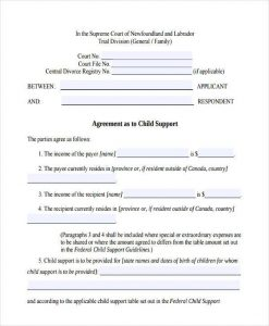 child support agreement form child support agreement form in pdf