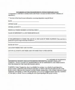 child support agreement form notarized letter template