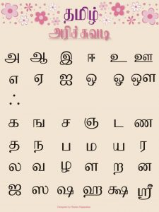 chinese alphabets in english tamil alphabet