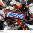 chocolate bar wrapper empty sweet wrappers snickers mars candy bars tambov russian federation september minis heap full frame studio shot