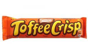 chocolate bars wrapper toffee crisp