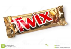chocolate bars wrapper twix cookie bars chisinau moldova november isolated white background produced mars incorporated name has
