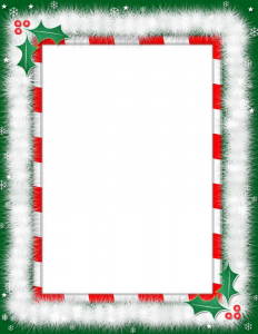 christmas borders for letters christmas border