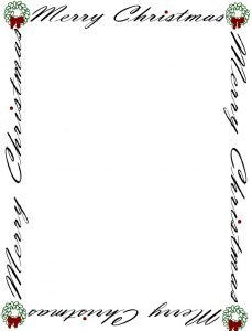 christmas borders for letters free printable christmas letter borders