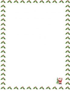christmas borders for letters santa claus letter x