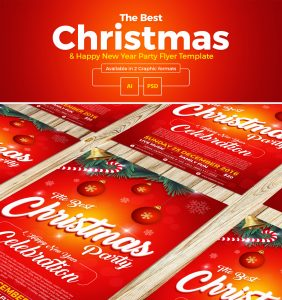 christmas email template christmas happy new year party flyer template
