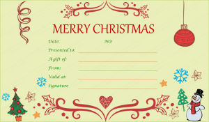 christmas gift certificate templates festive decorating christmas gift certificate template