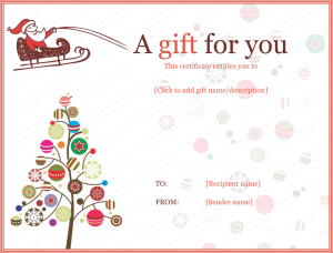 christmas gift certificate templates jolly simple christmas gift certificate template pdf