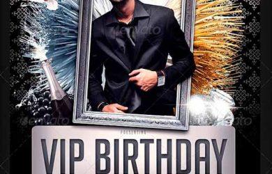 christmas invitation template vip birthday party flyer