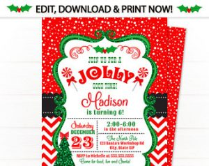 christmas invitation template il x rwvv