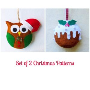 christmas invitation template set of felt christmas ornament patterns santa owl and inside owl christmas ornament template x
