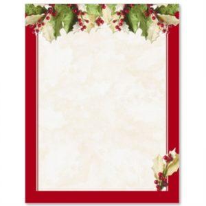 christmas letter paper m