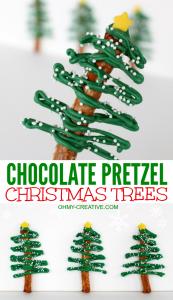 christmas tree printable chocolate pretzel christmas trees ohmy creative com