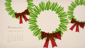 christmas tree printable december wreath calendar x