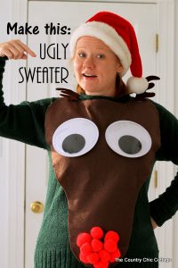 christmas tree printables make your own rudolph ugly christmas sweater