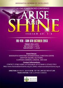 church flyer design arise and shine flyer design