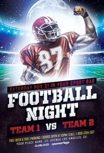 church revival flyer free football sports flyer template awesomeflyer com