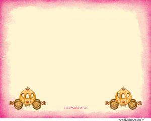 cinderella birthday invitations fairytale cinderella fall thank you pink edge back