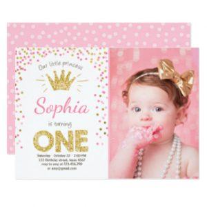 cinderella birthday invitations first birthday invitation princess gold pink rfcdcabdefca gduf