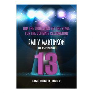 cinderella birthday invitations spotlight star purple th birthday party invitation rcbcebafbadcf imtzy byvr