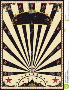 circus poster template dark circus
