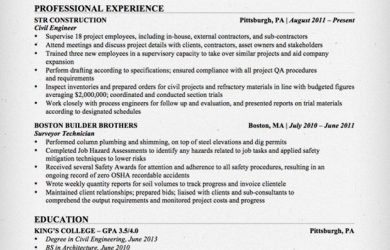 civil engineering resume civil engineer resume sample