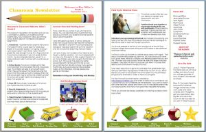 class newsletter template classroom newsletter for teachers