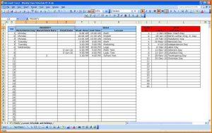 class schedule template weekly class schedule template class schedule 1