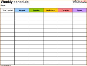class schedule template weekly class schedule template schedule