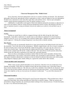 classroom management plan 20112012 classroom management plan 1 728