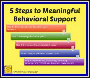 classroom management plan examples steps in the fba and behavioral support process