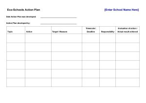 classroom schedule template action plan template