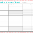 cleaners checklist templates family chore chart x
