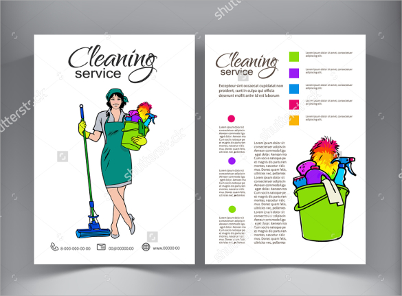 Cleaning Services Flyers Template Business