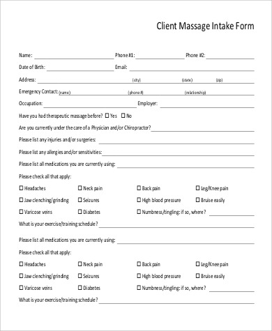Client Intake Form Template | Template Business