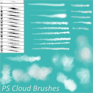 cloud photoshop brushes ps cloud brushes
