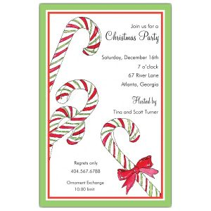 cocktail party invitations candy canes christmas invitations p c z