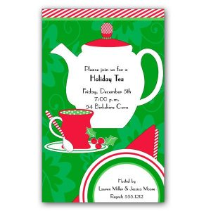 cocktail party invitations christmas tea time invitations p a z