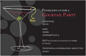 cocktail party invitations party invitation example