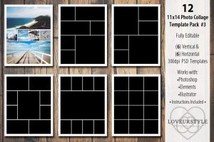 collage template photoshop x template pack v o x