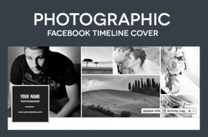 collage template psd photographic facebook timeline cover psd template