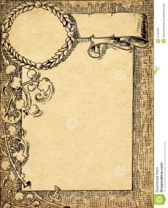 collections letter template vintage certificate old grunge paper