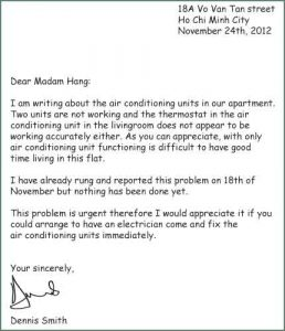 collections letter template write a letter of complaint